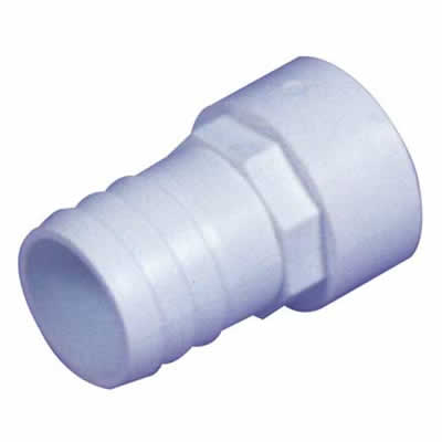 "1.5"" White ABS Plain Hosetail - Discount Pool Products"