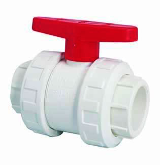 "1.5"" White Double Union Ball Valve"
