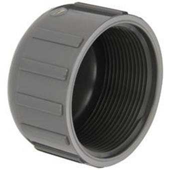 "2"" Grey PVC Threaded End Cap"