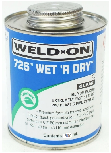 Wet R Dry Solvent Cement 500ml For Swimming Pool